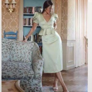 Danielle Bernstein Puff Sleeve Dot Vintage Dress